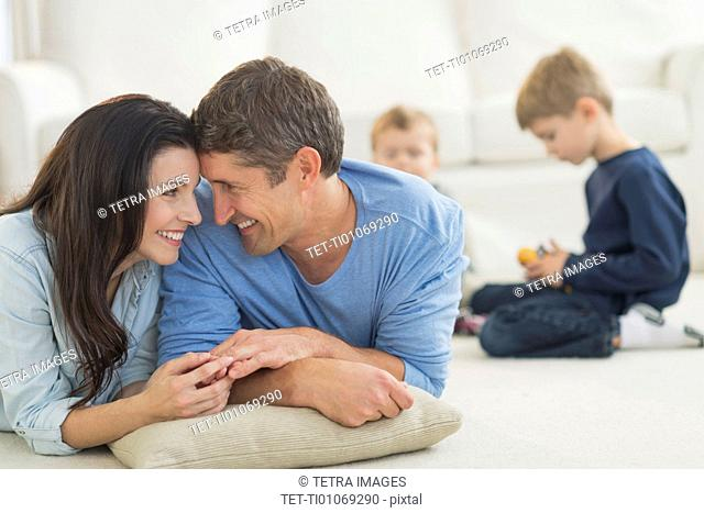 Parents with kids (12-17 months, 6-7) at home