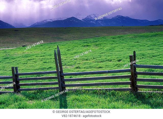 Pole fence, Methow Wildlife Area, Washington