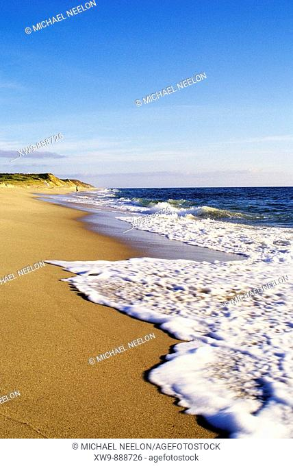 Surf at Nauset beach in the Cape Cod National Seashore in Eastham