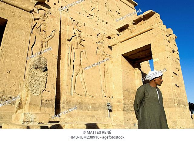 Egypt, Upper Egypt, Nubia, Nile Valley, Aswan, Agilka Island, Philae Temple listed as World Heritage by UNESCO