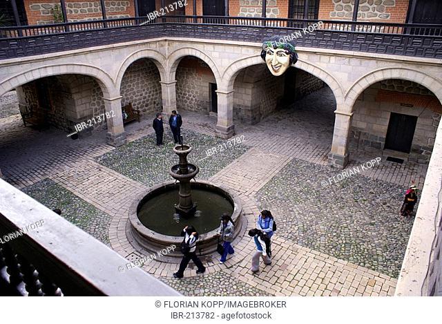 Courtyard of Casa de la Moneda, Potosi, Bolivia