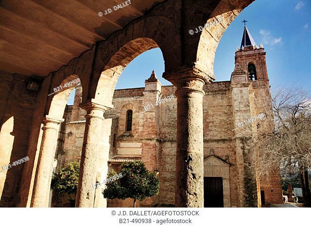Purísima Concepción church, from the former 'Tribunal de la Inquisisción' at Zufre. Huelva province. Spain