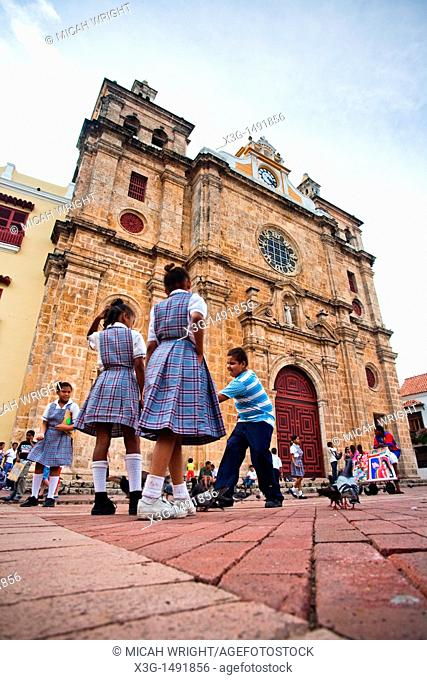 On Colombia's Caribbean coast, Cartagena is one of the jewels of south american cities  One of the famous landmarks is the Santo Domingo Church