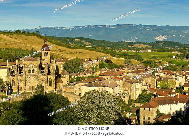 France, Isere, Saint Antoine l'Abbaye, labelled Les Plus Beaux Villages de France (The Most Beautiful Villages of France)