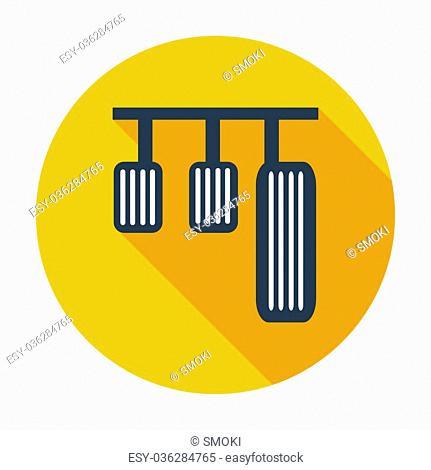Pedal car. Single flat color icon. Vector illustration