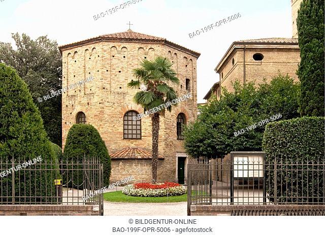 The Battistero Neoniano in Ravenna, Emilia-Romagna, Italy
