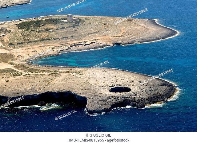 Malta, Comino Island, South East coast (aerial view)