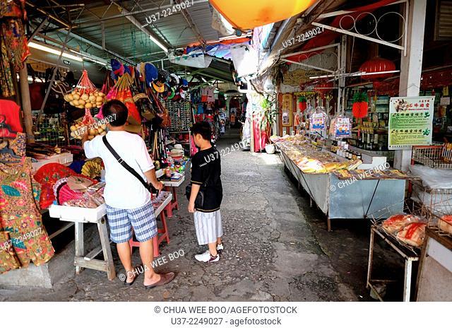 Vendors at Kek Lok Si temple, Penang, Malaysia