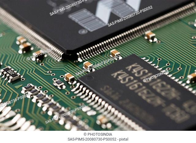 Close-up of a mother board