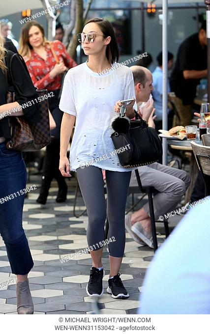 Cara Santana seen leaving Zinque Cafe after having lunch with friends Featuring: Cara Santana Where: Los Angeles, California