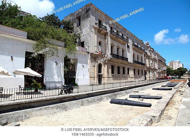 Panoramic View of San Carlos Seminary in Old Havana, Cuba