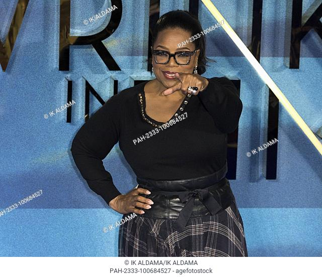 'ÄÄãOprah Winfrey attends A WRINKLE IN TIME European Premiere - London, UK (13/03/2018) | usage worldwide. - London/United Kingdom of Great Britain and Northern...