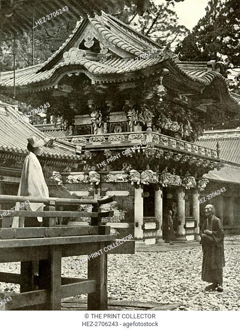 'The Yomei Gate at Nikko', 1910. Creator: Herbert Ponting