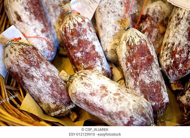 Fresh beef salami