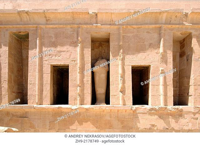 Hatshepsut's temple, the focal point of the complex, Luxor (Thebes), Egypt, Africa