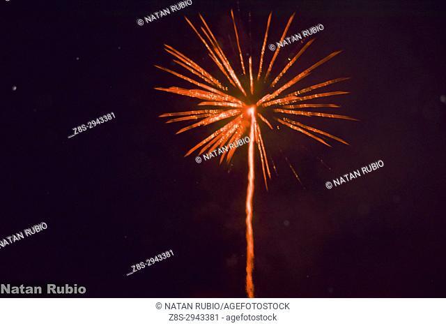 Fireworks, Montmelo, Barcelona, Spain