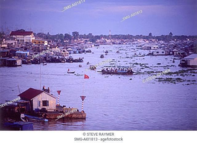 Vietnam, Mekong River, Chau Doc along Bassac River