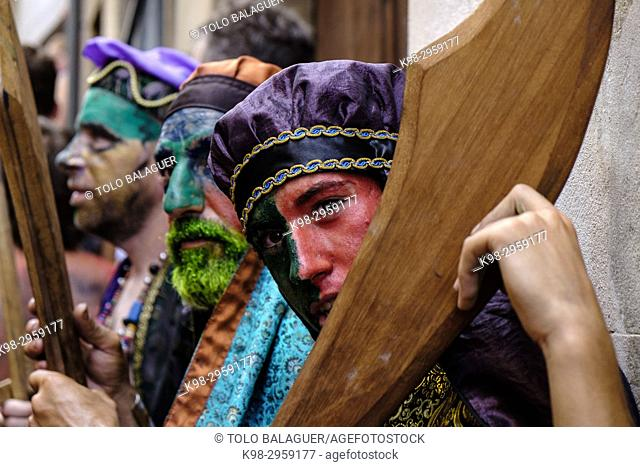 Moors and Christians, fiesta de La Patrona, Pollença, Mallorca, Balearic islands, Spain
