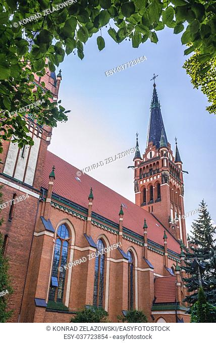 Early 20th century Neo-Gothic Roman Catholic Church of Sacred Heart of Jesus in Olsztyn city in Warmian-Masurian Voivodeship of Poland
