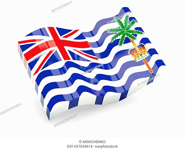 3d flag of British Indian Ocean Territory isolated on white