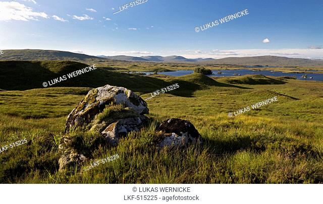 Lochan na h-Achlaise, Rannoch Moor, Argyll and Bute, Highland, Scotland, United Kingdom