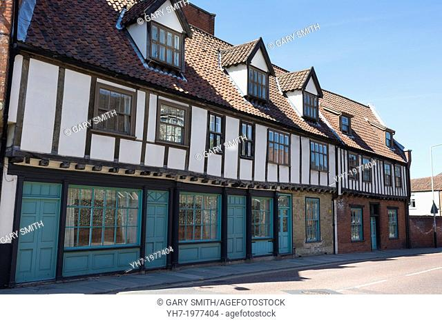 Half Timbered Houses, Palace Street, Norwich, England, June