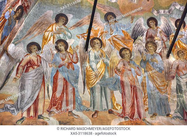 Frescoes, Church of Prince Demitry the Martyr, Uglich, Golden Ring, Yaroslavl Oblast, Russia