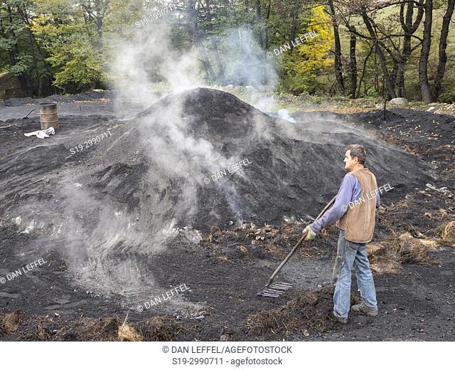 Transylvania Romania Charcoal Making