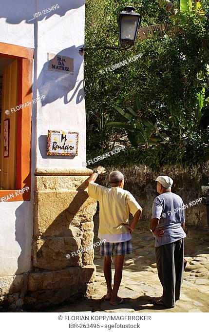 Old men chatting, Paraty, Brazil