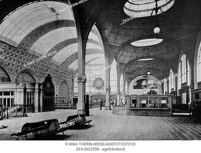 New Paris railway station of Orléans, Delivery of luggage, Picture from the French weekly newspaper l'Illustration, 15th September 1900