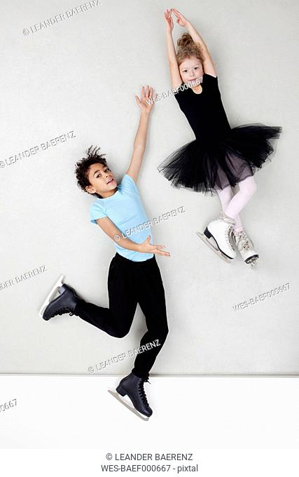 Figure skating boy and girl