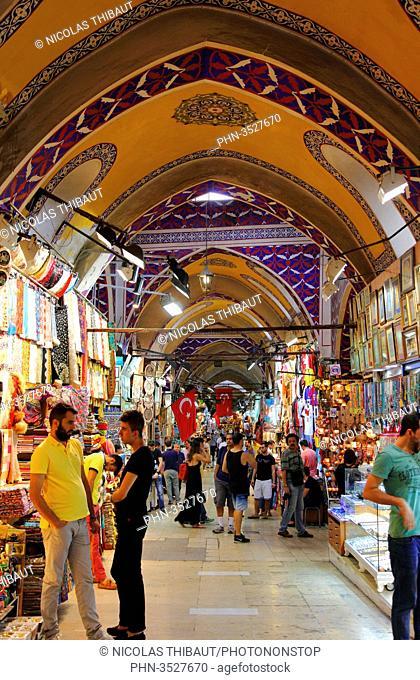 Turkey, Istanbul (municipality of Fatih), district of Beyazit, the Grand Bazaar (kapali carsi)