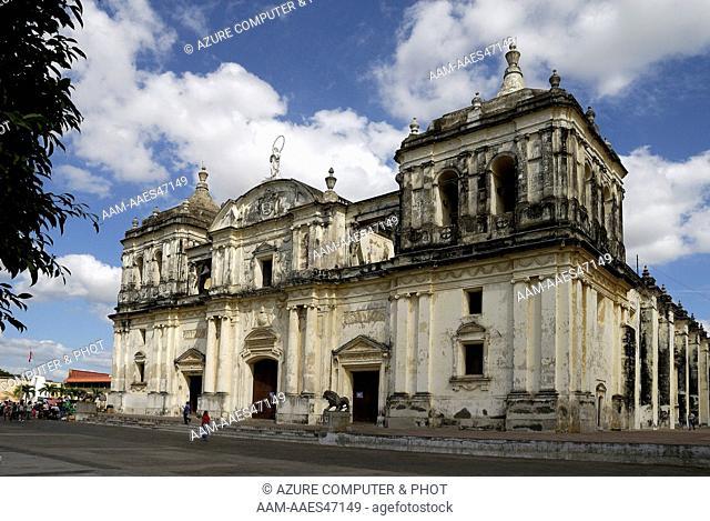 Basilica, Cathedral de la Asuncion, Leon, Nicaragua
