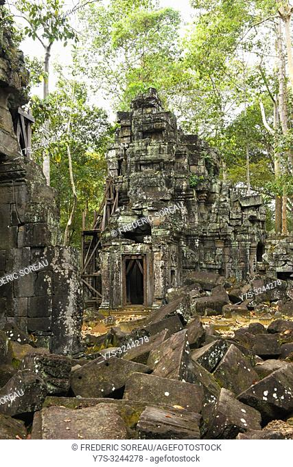 Ta Prohm temple at Angkor in Cambodia, South east Asia
