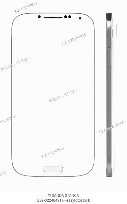 New White Smart Phone with blank screen