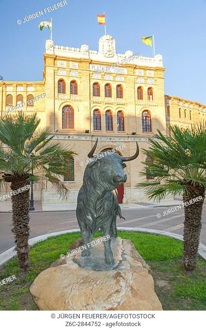 the bullring, town El Puerto de Santa Maria, town of wine industry and sherry, province of Cádiz, Spain