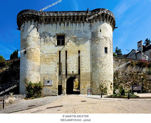 France, Loches, Porte Royale to Loches castle