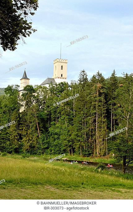 Rozemberk nad Vltavou Rosenberg at the Moldau Vltava Bohemian Forest Sumava Czech Republik