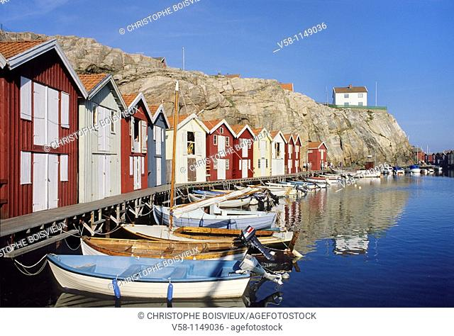 Sweden, Bohuslan, Smogen harbour