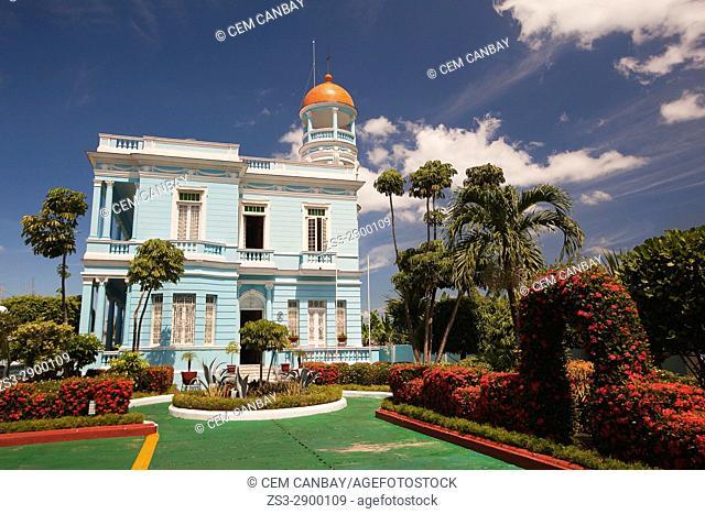 View to the Palacio Azul- Blue Palace at Punta Gorda district, Cienfuegos, Cuba, Central America
