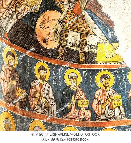 Gümüsler cave monastery, Church, Wall paintings, Nigde Province, Turkey