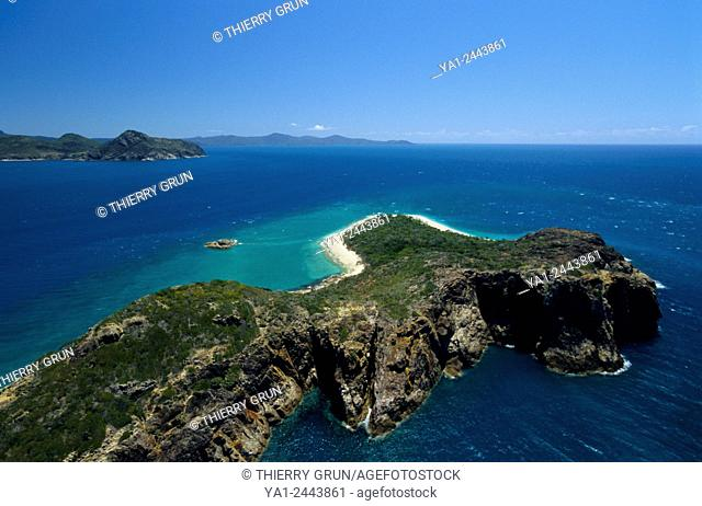 Australia, Queensland, Whitsunday islands, Deloraine island aerial view