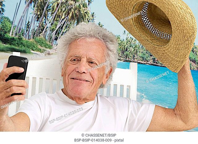 Senior man on holidays