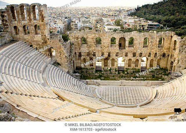 Odeon theatre of Herodes Atticus, Acropolis, Athens, Greece