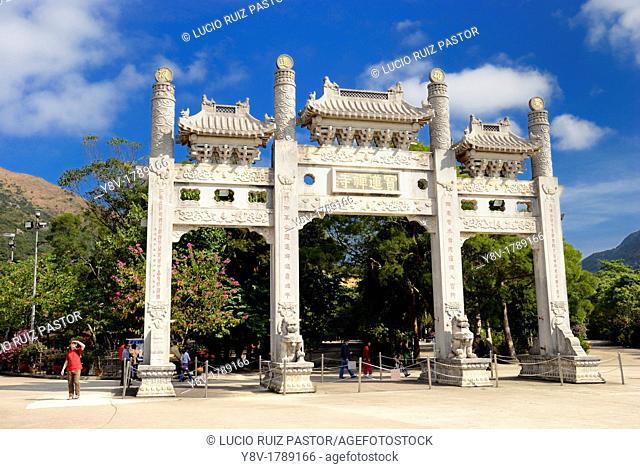 Po Lin Monastery  Sacred Gate entrance