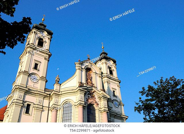The baroque Basilica of St Alexander and Theodore in Ottobeuren / Bavaria