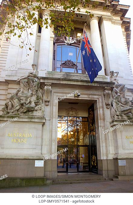 The entrance to the Australian High Commission on the Strand