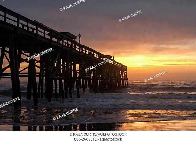 Pier at Sunrise, Atlantic Ocean, Florida, USA