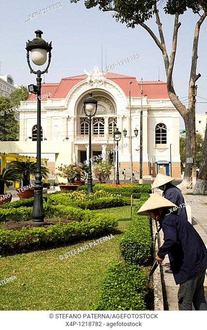 Municipal Theatre and Caravelle Hotel, Ho Chi Minh City, Vietnam