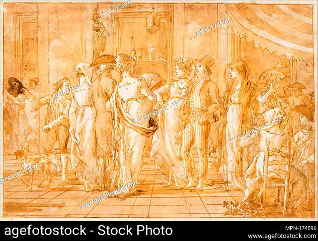 In Piazza. Artist: Giovanni Domenico Tiepolo (Italian, Venice 1727-1804 Venice); Date: ca. 1791; Medium: Pen and brown ink, brown wash